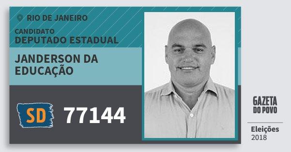Santinho Janderson da Educação 77144 (SOLIDARIEDADE) Deputado Estadual | Rio de Janeiro | Eleições 2018