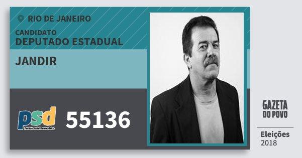 Santinho Jandir 55136 (PSD) Deputado Estadual | Rio de Janeiro | Eleições 2018