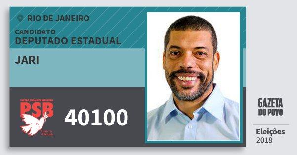 Santinho Jari 40100 (PSB) Deputado Estadual | Rio de Janeiro | Eleições 2018