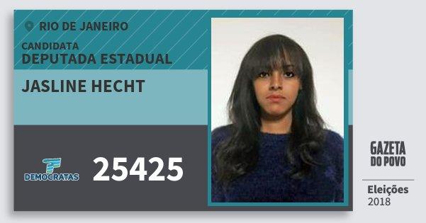 Santinho Jasline Hecht 25425 (DEM) Deputada Estadual | Rio de Janeiro | Eleições 2018