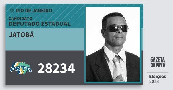 Santinho Jatobá 28234 (PRTB) Deputado Estadual | Rio de Janeiro | Eleições 2018