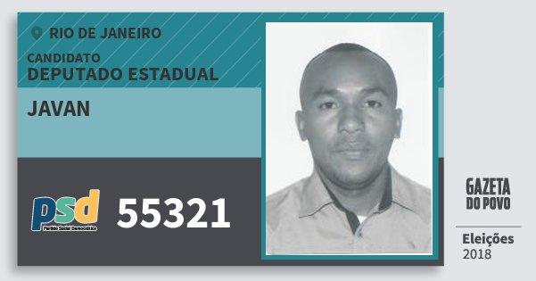 Santinho Javan 55321 (PSD) Deputado Estadual | Rio de Janeiro | Eleições 2018