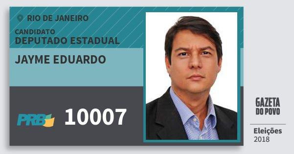 Santinho Jayme Eduardo 10007 (PRB) Deputado Estadual | Rio de Janeiro | Eleições 2018