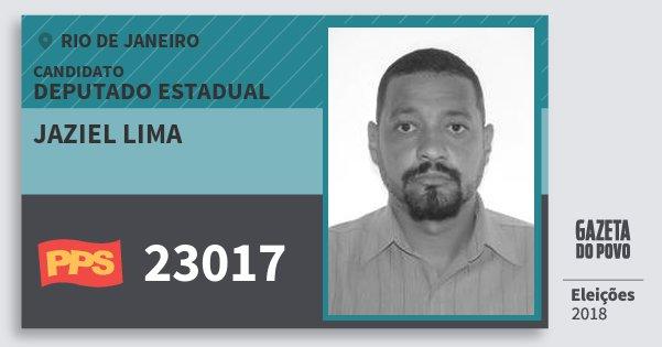 Santinho Jaziel Lima 23017 (PPS) Deputado Estadual | Rio de Janeiro | Eleições 2018