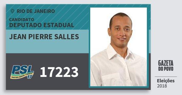 Santinho Jean Pierre Salles 17223 (PSL) Deputado Estadual   Rio de Janeiro   Eleições 2018