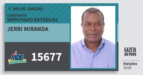 Santinho Jerri Miranda 15677 (MDB) Deputado Estadual | Rio de Janeiro | Eleições 2018
