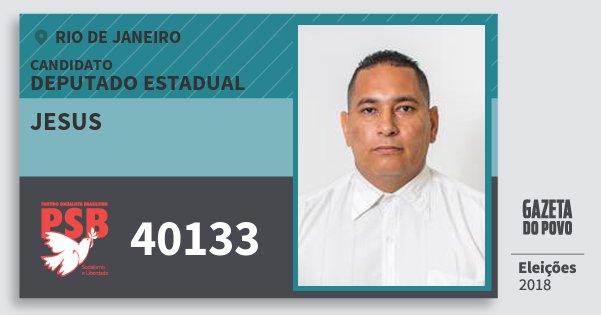 Santinho Jesus 40133 (PSB) Deputado Estadual | Rio de Janeiro | Eleições 2018