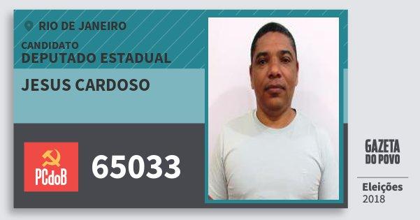 Santinho Jesus Cardoso 65033 (PC do B) Deputado Estadual | Rio de Janeiro | Eleições 2018