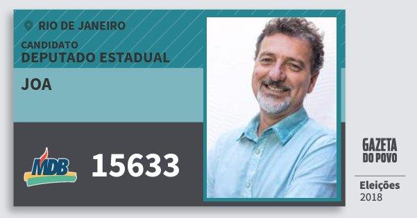 Santinho Joa 15633 (MDB) Deputado Estadual | Rio de Janeiro | Eleições 2018