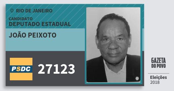 Santinho João Peixoto 27123 (DC) Deputado Estadual   Rio de Janeiro   Eleições 2018