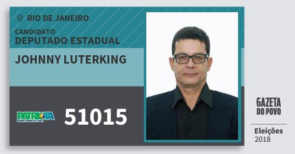 Santinho Johnny Luterking 51015 (PATRI) Deputado Estadual   Rio de Janeiro   Eleições 2018