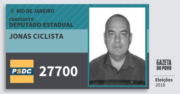 Santinho Jonas Ciclista 27700 (DC) Deputado Estadual | Rio de Janeiro | Eleições 2018