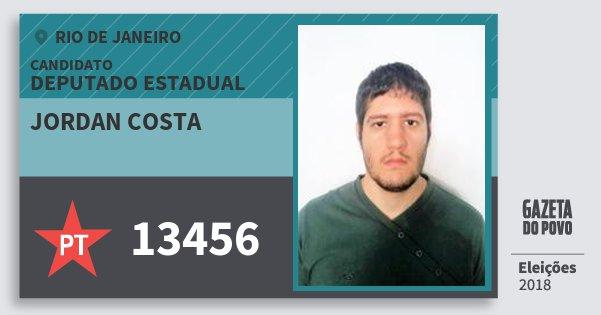 Santinho Jordan Costa 13456 (PT) Deputado Estadual | Rio de Janeiro | Eleições 2018