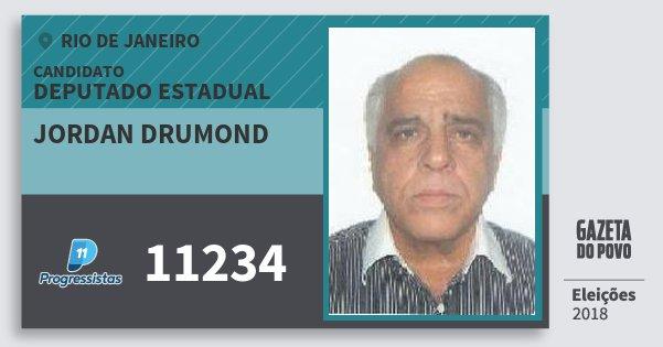 Santinho Jordan Drumond 11234 (PP) Deputado Estadual | Rio de Janeiro | Eleições 2018