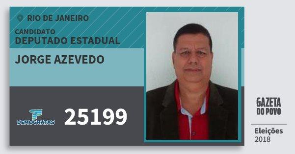 Santinho Jorge Azevedo 25199 (DEM) Deputado Estadual | Rio de Janeiro | Eleições 2018