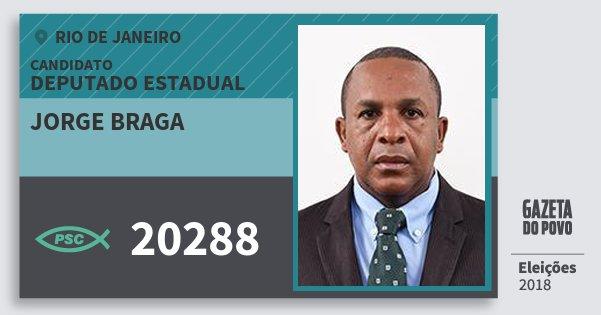 Santinho Jorge Braga 20288 (PSC) Deputado Estadual | Rio de Janeiro | Eleições 2018