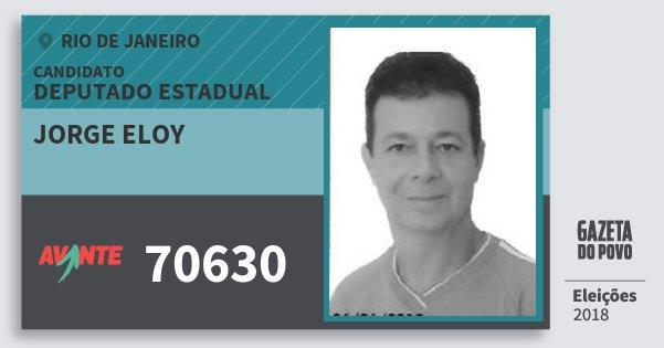 Santinho Jorge Eloy 70630 (AVANTE) Deputado Estadual | Rio de Janeiro | Eleições 2018