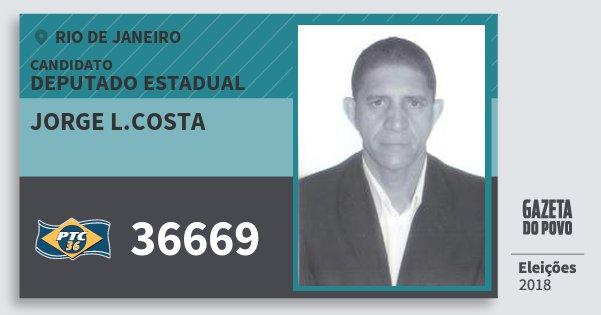 Santinho Jorge L.costa 36669 (PTC) Deputado Estadual   Rio de Janeiro   Eleições 2018