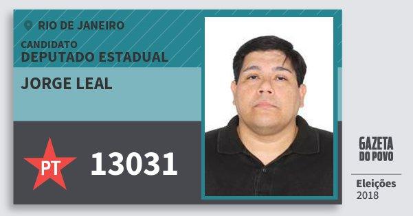Santinho Jorge Leal 13031 (PT) Deputado Estadual | Rio de Janeiro | Eleições 2018