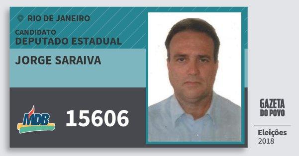 Santinho Jorge Saraiva 15606 (MDB) Deputado Estadual | Rio de Janeiro | Eleições 2018