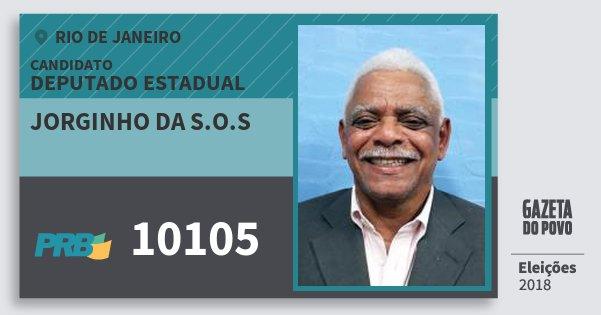 Santinho Jorginho da S.o.s 10105 (PRB) Deputado Estadual | Rio de Janeiro | Eleições 2018