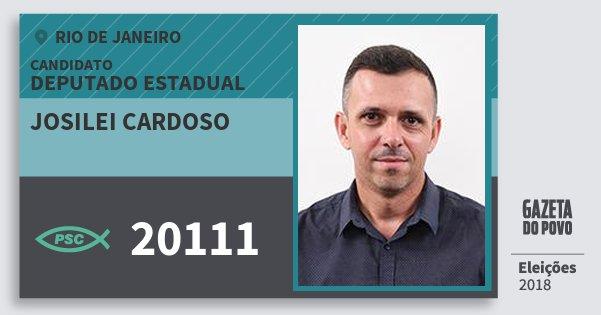 Santinho Josilei Cardoso 20111 (PSC) Deputado Estadual | Rio de Janeiro | Eleições 2018