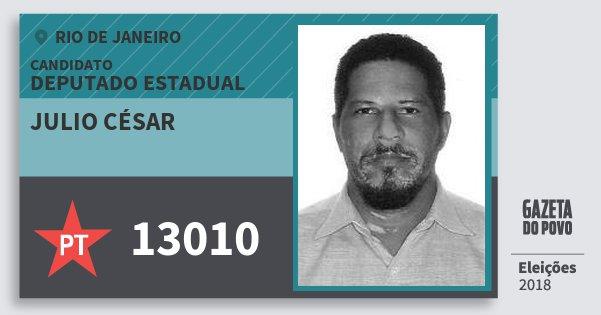 Santinho Julio César 13010 (PT) Deputado Estadual | Rio de Janeiro | Eleições 2018