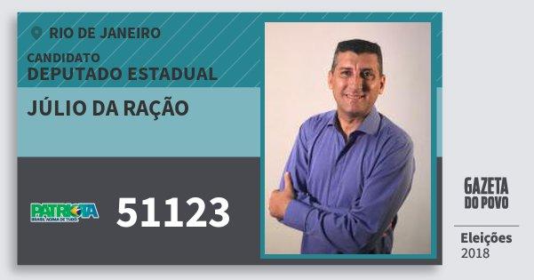 Santinho Júlio da Ração 51123 (PATRI) Deputado Estadual | Rio de Janeiro | Eleições 2018