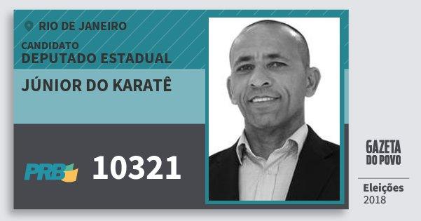 Santinho Júnior do Karatê 10321 (PRB) Deputado Estadual | Rio de Janeiro | Eleições 2018