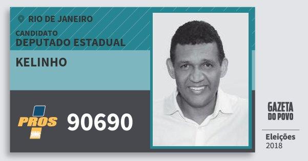 Santinho Kelinho 90690 (PROS) Deputado Estadual | Rio de Janeiro | Eleições 2018