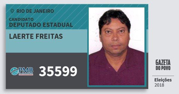 Santinho Laerte Freitas 35599 (PMB) Deputado Estadual | Rio de Janeiro | Eleições 2018