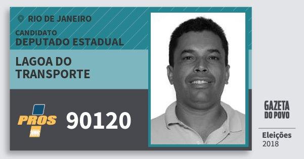 Santinho Lagoa do Transporte 90120 (PROS) Deputado Estadual | Rio de Janeiro | Eleições 2018