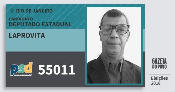 Santinho Laprovita 55011 (PSD) Deputado Estadual   Rio de Janeiro   Eleições 2018