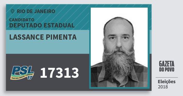 Santinho Lassance Pimenta 17313 (PSL) Deputado Estadual | Rio de Janeiro | Eleições 2018