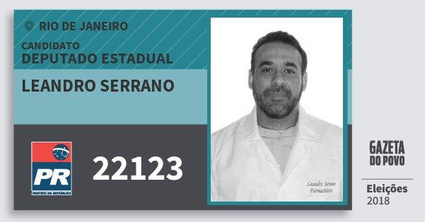 Santinho Leandro Serrano 22123 (PR) Deputado Estadual | Rio de Janeiro | Eleições 2018