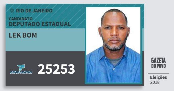 Santinho Lek Bom 25253 (DEM) Deputado Estadual | Rio de Janeiro | Eleições 2018