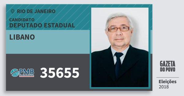Santinho Libano 35655 (PMB) Deputado Estadual | Rio de Janeiro | Eleições 2018