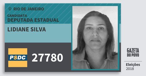 Santinho Lidiane Silva 27780 (DC) Deputada Estadual | Rio de Janeiro | Eleições 2018