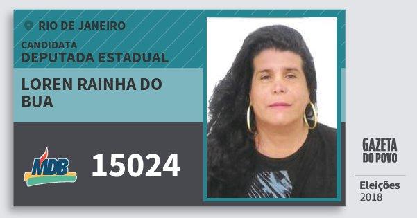 Santinho Loren Rainha do Bua 15024 (MDB) Deputada Estadual   Rio de Janeiro   Eleições 2018