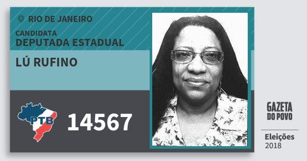 Santinho Lú Rufino 14567 (PTB) Deputada Estadual | Rio de Janeiro | Eleições 2018