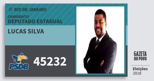 Santinho Lucas Silva 45232 (PSDB) Deputado Estadual   Rio de Janeiro   Eleições 2018
