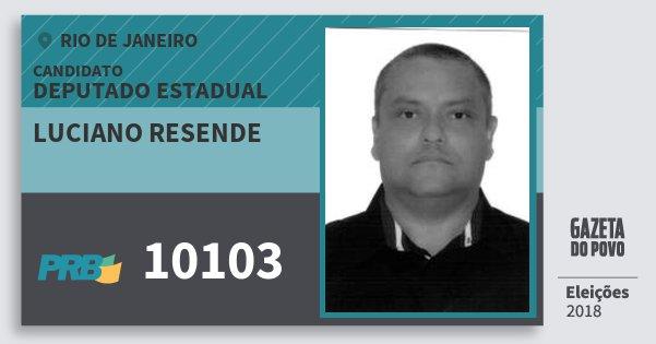 Santinho Luciano Resende 10103 (PRB) Deputado Estadual | Rio de Janeiro | Eleições 2018