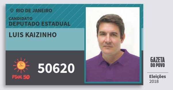 Santinho Luis Kaizinho 50620 (PSOL) Deputado Estadual | Rio de Janeiro | Eleições 2018