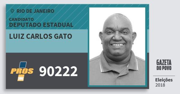 Santinho Luiz Carlos Gato 90222 (PROS) Deputado Estadual | Rio de Janeiro | Eleições 2018