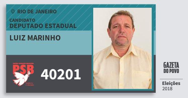 Santinho Luiz Marinho 40201 (PSB) Deputado Estadual | Rio de Janeiro | Eleições 2018