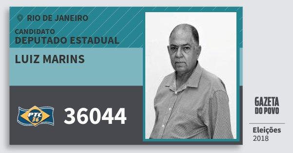 Santinho Luiz Marins 36044 (PTC) Deputado Estadual   Rio de Janeiro   Eleições 2018