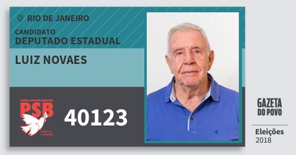 Santinho Luiz Novaes 40123 (PSB) Deputado Estadual   Rio de Janeiro   Eleições 2018