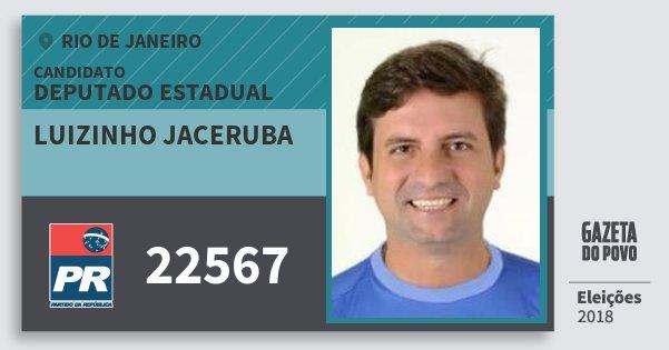 Santinho Luizinho Jaceruba 22567 (PR) Deputado Estadual   Rio de Janeiro   Eleições 2018