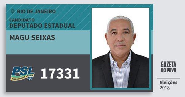 Santinho Magu Seixas 17331 (PSL) Deputado Estadual | Rio de Janeiro | Eleições 2018
