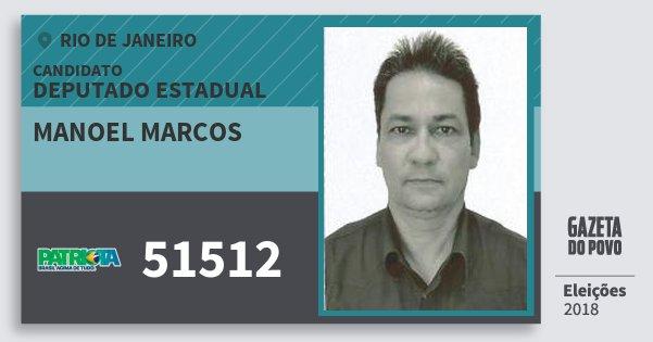 Santinho Manoel Marcos 51512 (PATRI) Deputado Estadual | Rio de Janeiro | Eleições 2018